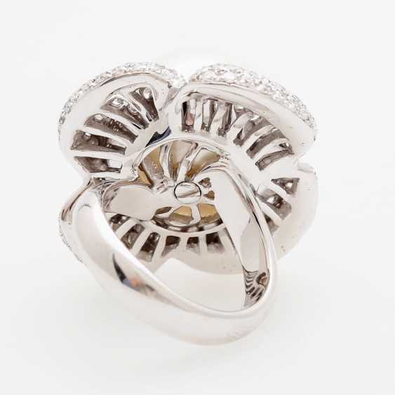 "Womens ring ""flower"" occupied m. a South sea cultured pearl - photo 4"