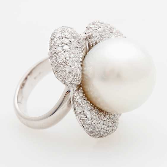 "Womens ring ""flower"" occupied m. a South sea cultured pearl - photo 2"