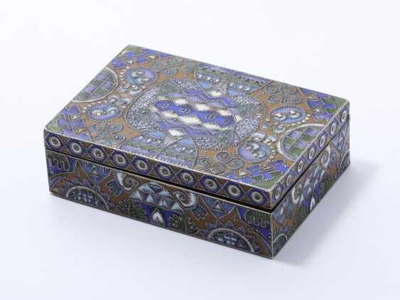 Rectangular box in silver 88 zolotniks