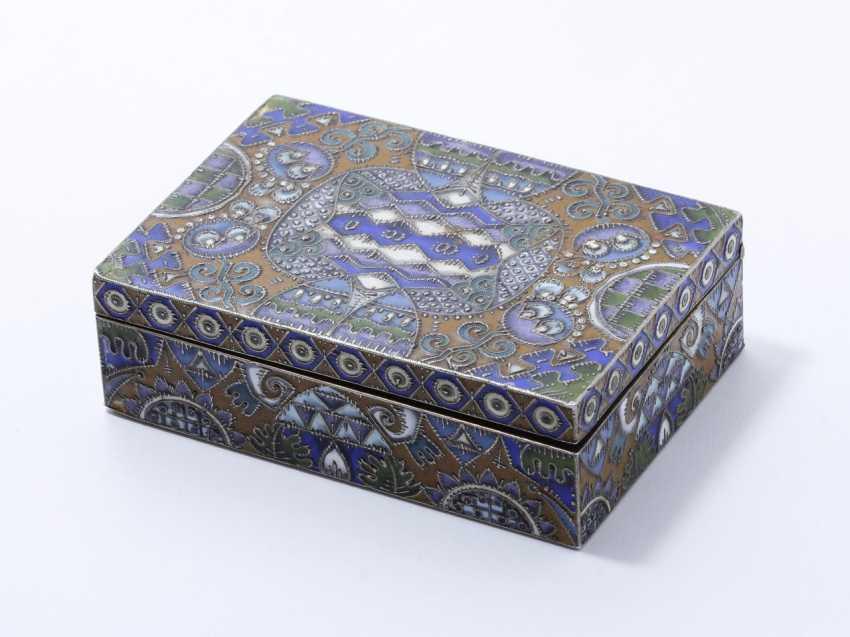 Boîte rectangulaire en argent 88 zolotniks - photo 1