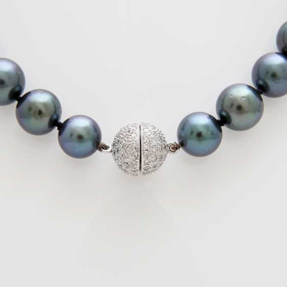 Necklace out of 37 Tahiti cultured pearls - photo 2