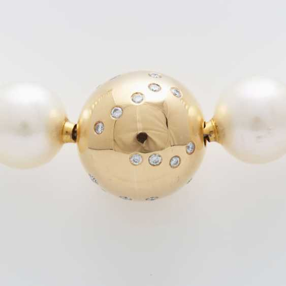Necklace, 36 cream-colored cultured pearls - photo 2