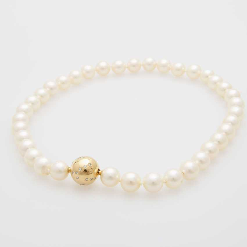 Necklace, 36 cream-colored cultured pearls - photo 3