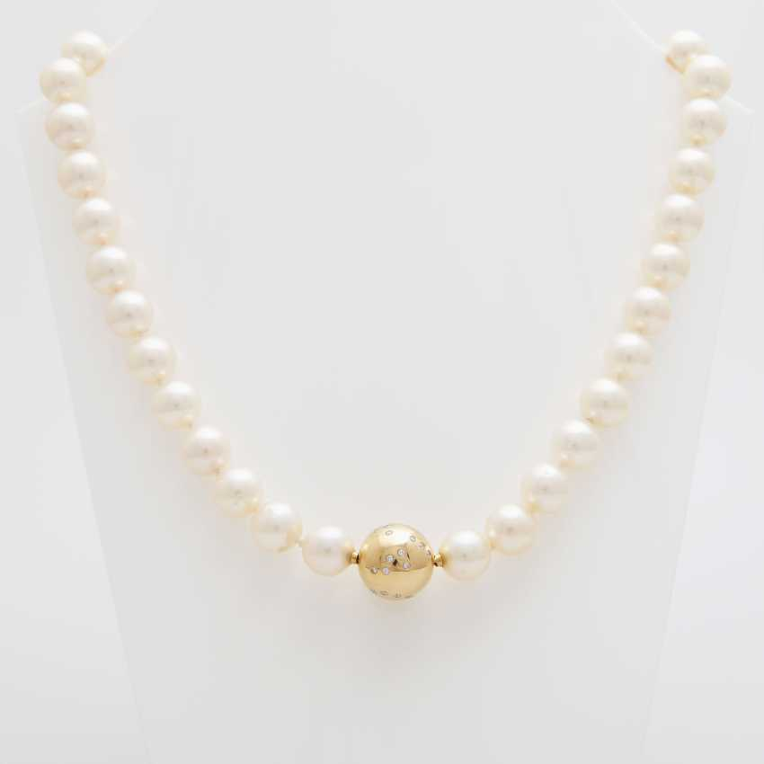 Necklace, 36 cream-colored cultured pearls - photo 4