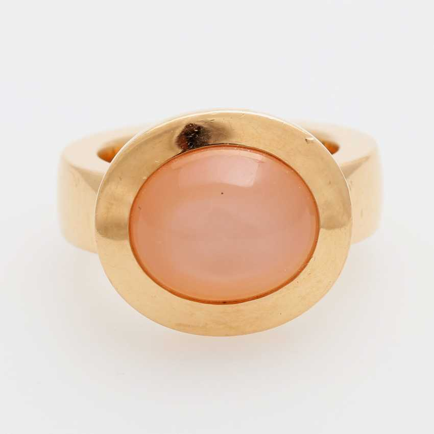 JOCHEN POHL Ring with pink moonstone. - photo 1