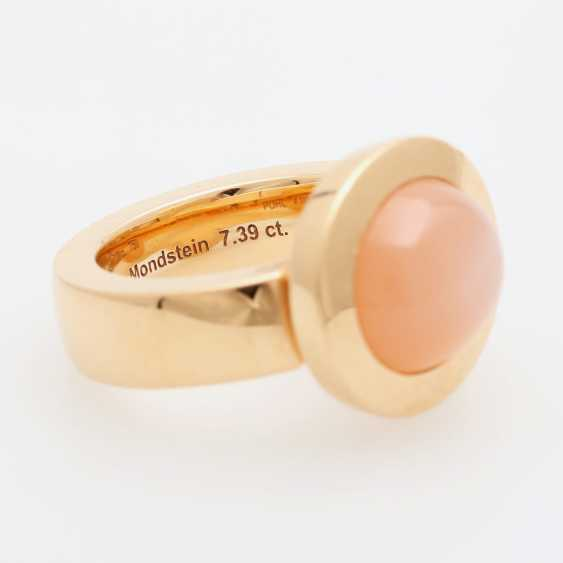 JOCHEN POHL Ring with pink moonstone. - photo 2