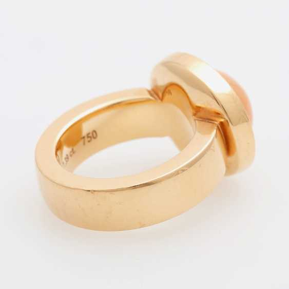 JOCHEN POHL Ring with pink moonstone. - photo 3