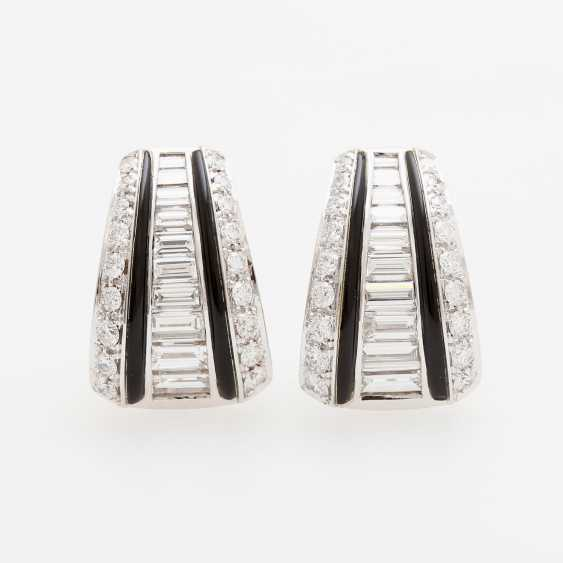 PICCHIOTTI clip earrings with onyx inlay & diamonds - photo 1