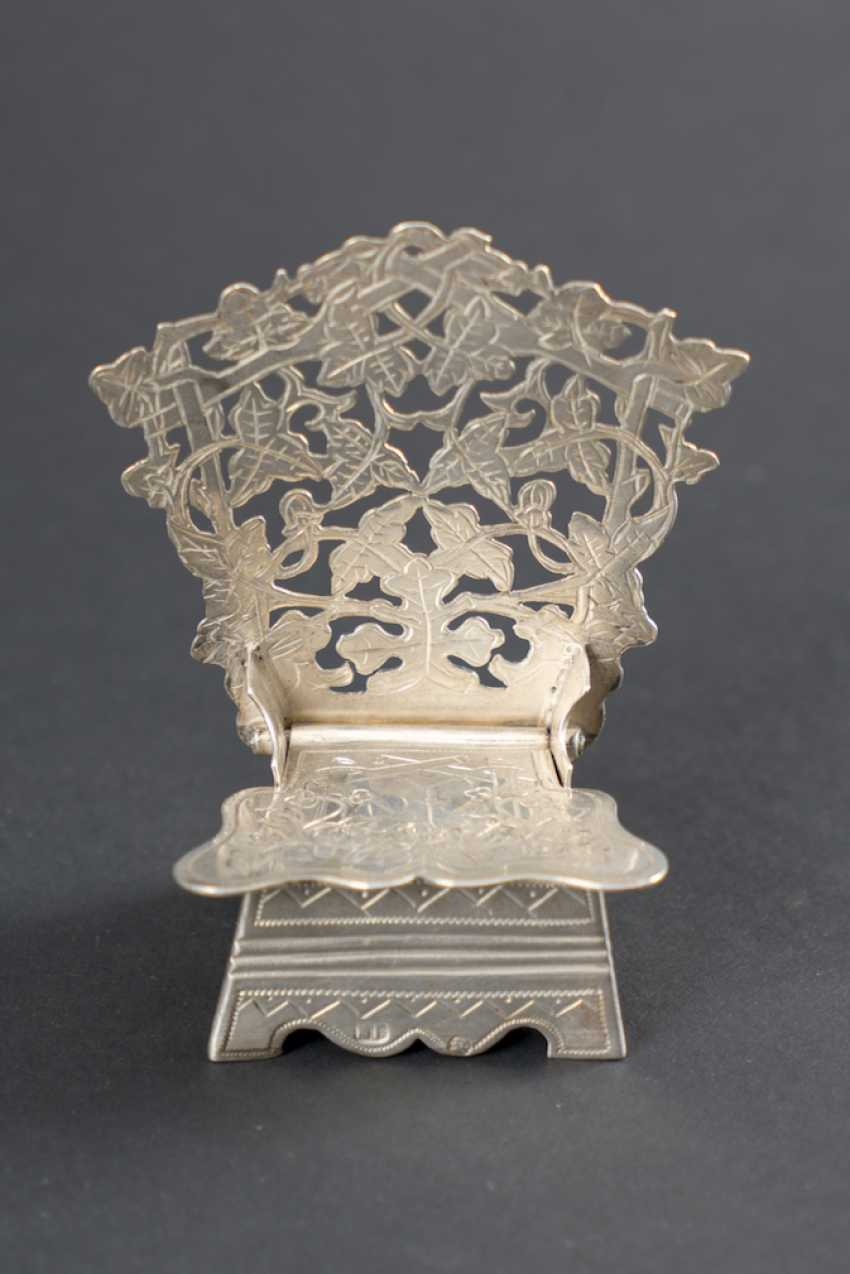 SALT SHAKER IN SILVER IN THE SHAPE OF A CHAIR - photo 2