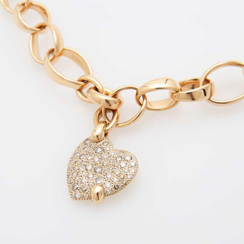"""POMELLATO necklace """"Sabbia"""" with a heart pendant - photo 4"""