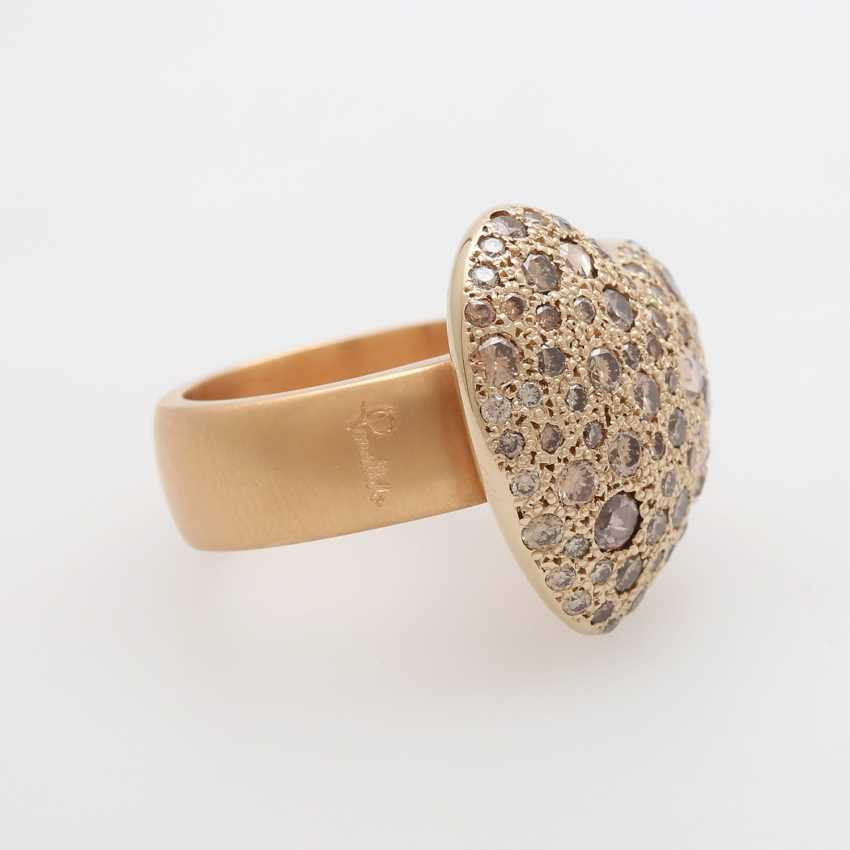 "POMELLATO Ring ""Sabbia"" with herzförm. Ring head - photo 2"