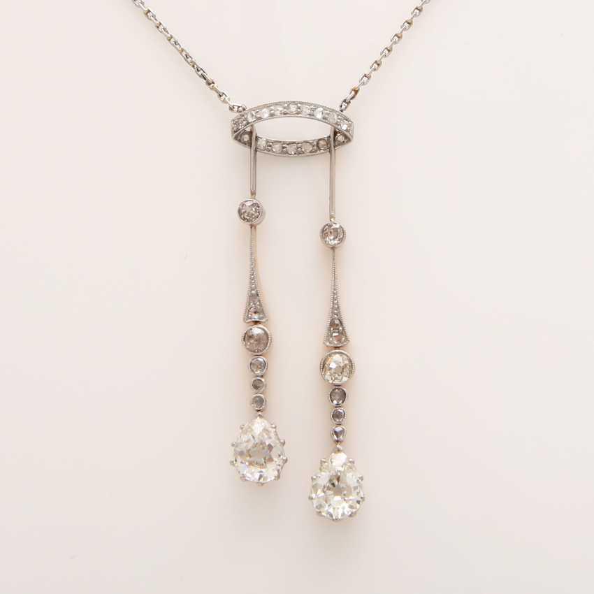 Necklace, an ART DECO middle part with diamond trim - photo 2