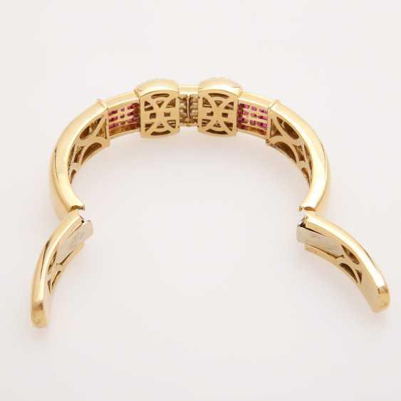 Bangle bes. with brilliants, diamonds and rubies; - photo 6