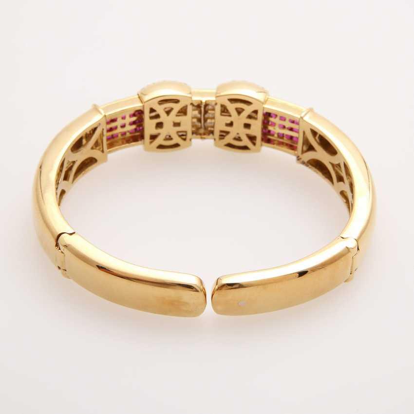 Bangle bes. with brilliants, diamonds and rubies; - photo 7