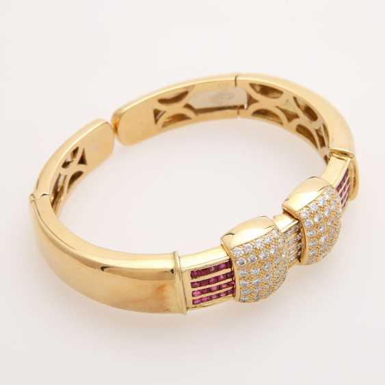 Bangle bes. with brilliants, diamonds and rubies; - photo 3