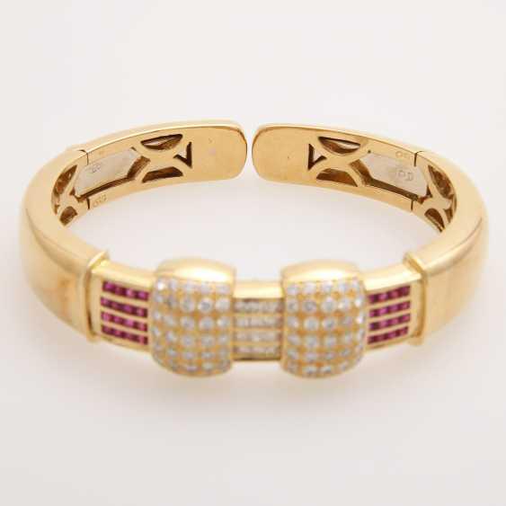 Bangle bes. with brilliants, diamonds and rubies; - photo 2