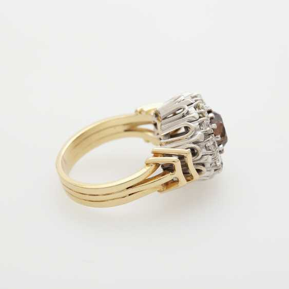 Ring with diamonds; - photo 3