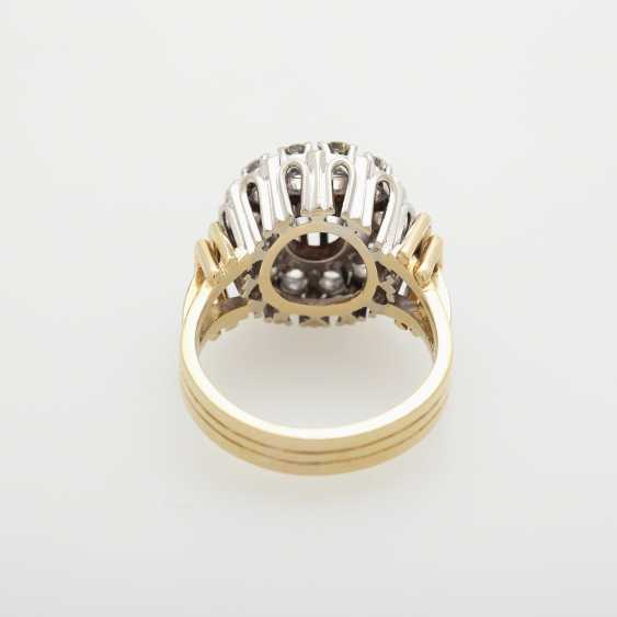 Ring with diamonds; - photo 4