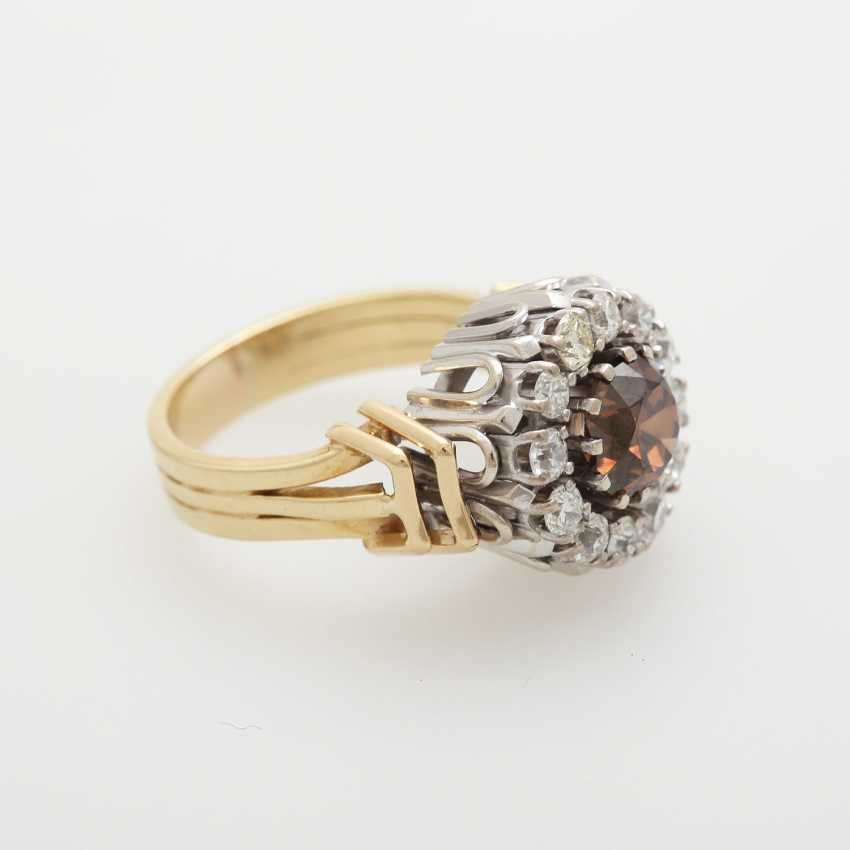 Ring with diamonds; - photo 2
