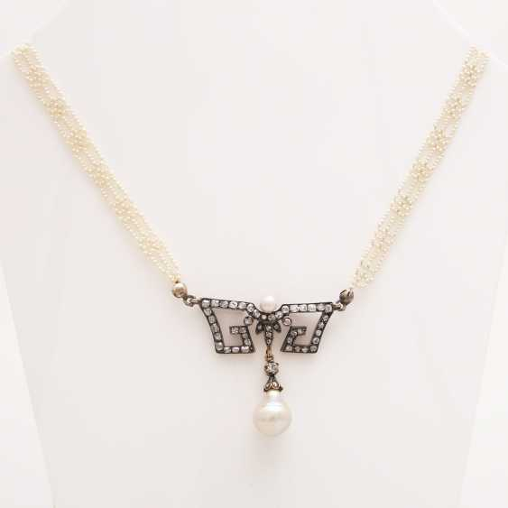 Collier 1900's in the early Art-Deco-style; - photo 1