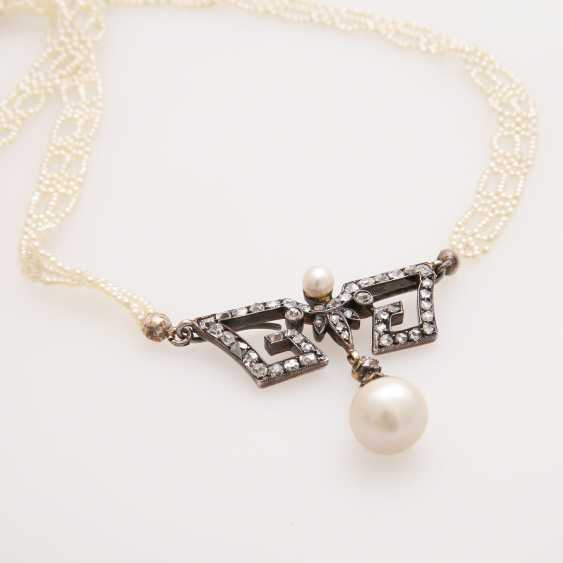 Collier 1900's in the early Art-Deco-style; - photo 2