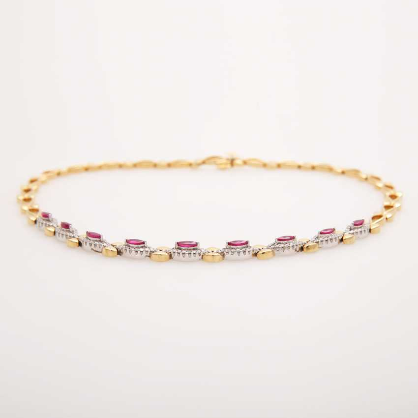 Necklace with rubies and diamonds, - photo 3