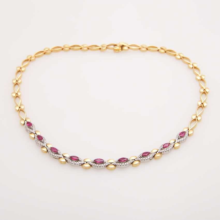 Necklace with rubies and diamonds, - photo 4
