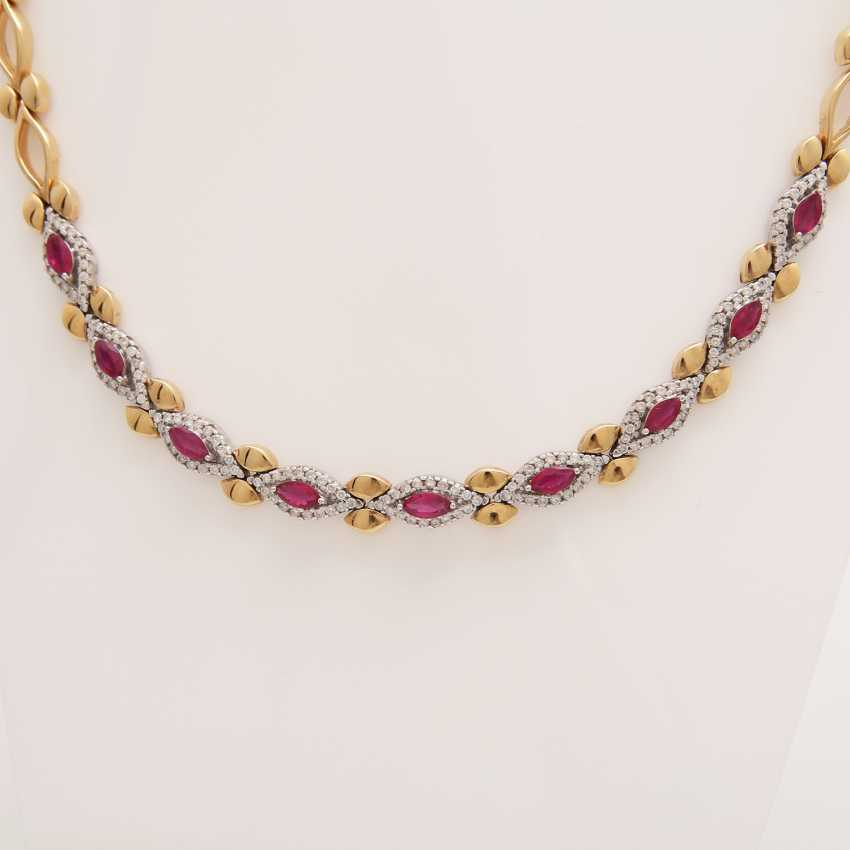 Necklace with rubies and diamonds, - photo 2