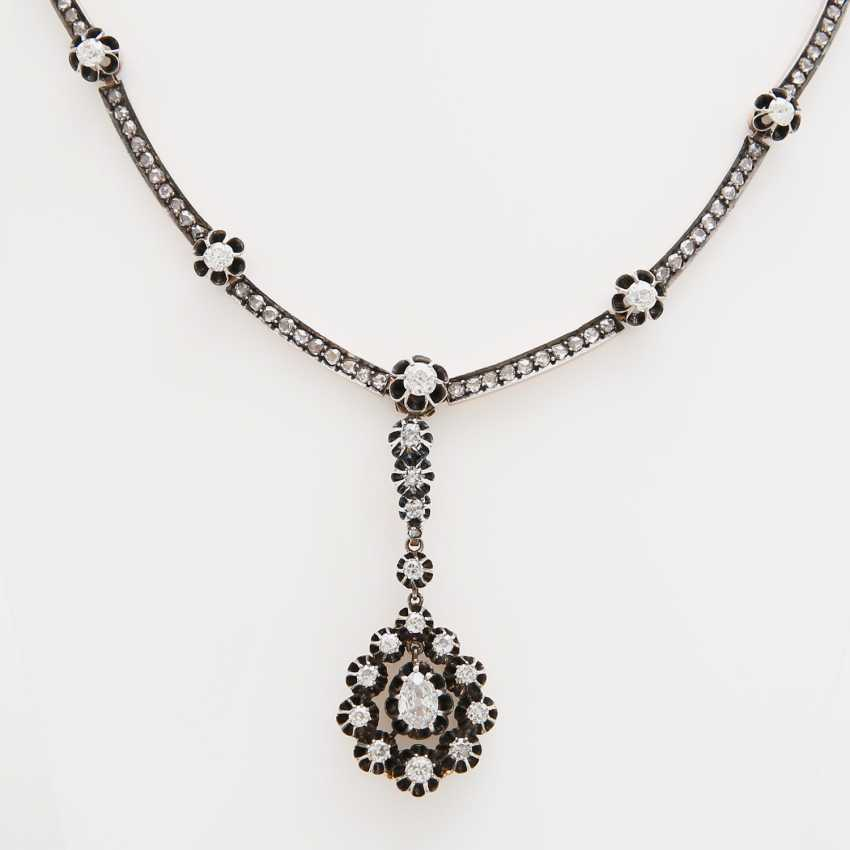Necklace studded with diamond - photo 1