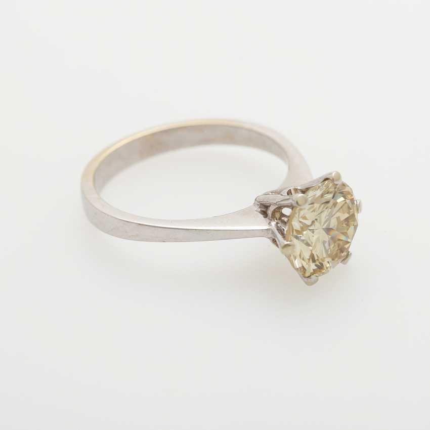Solitaire ring bes. m. 1 Diam.-Brilliant - photo 2