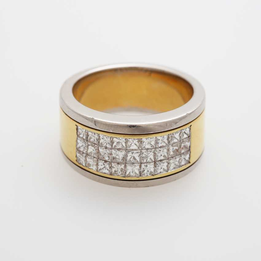 Damenring mit 27 Princesscut-Diamanten - photo 1