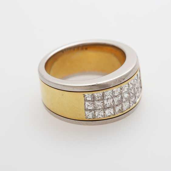 Damenring mit 27 Princesscut-Diamanten - photo 3