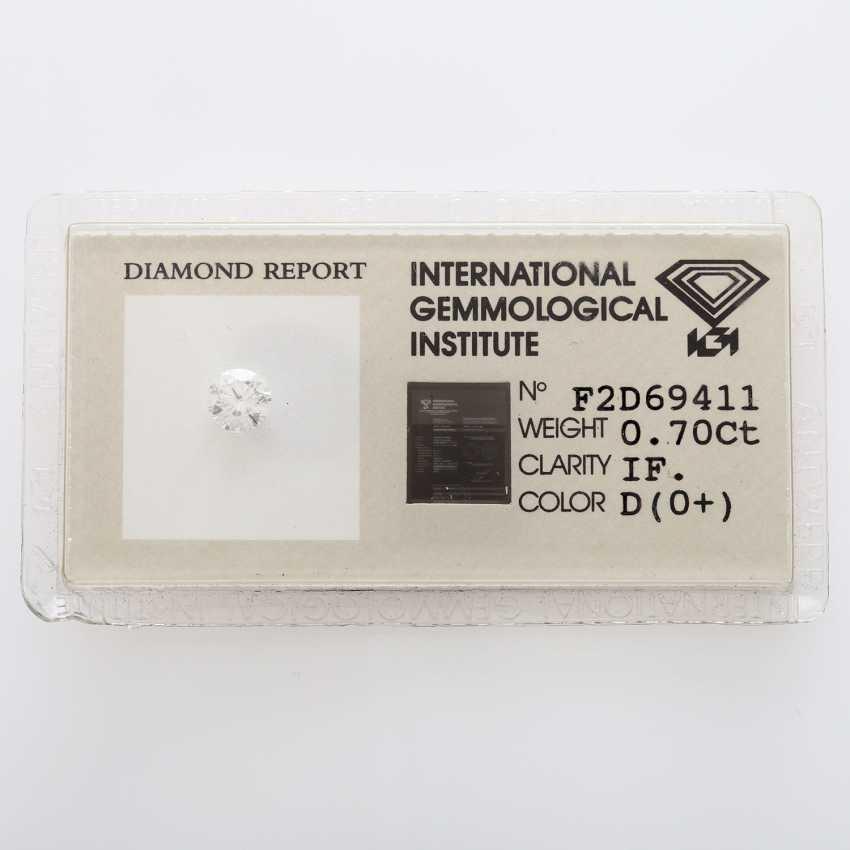 Brilliant 0.70 ct., IGI welded - photo 1