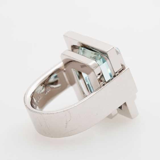 Ring in geometrischem Design - photo 4
