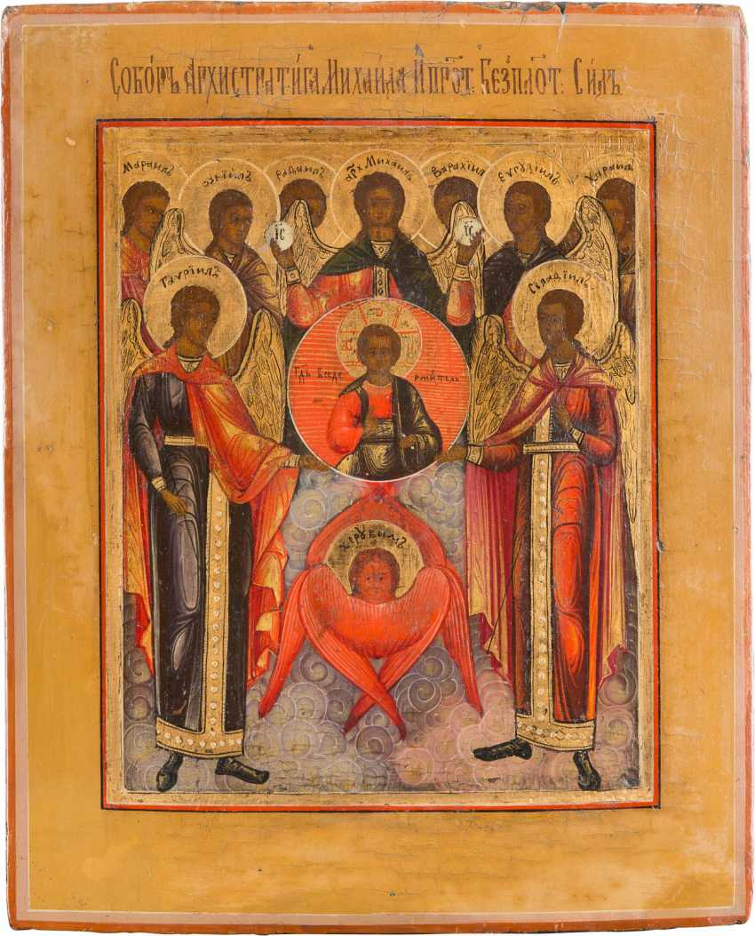Lot 809  ICON OF THE SYNAXIS OF THE ARCHANGEL MICHAEL from