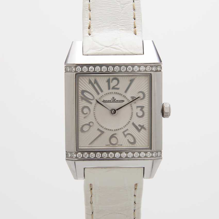 "JAEGER LE COULTRE ladies watch ""Reverso Squadra Lady"". Stainless steel, - photo 2"