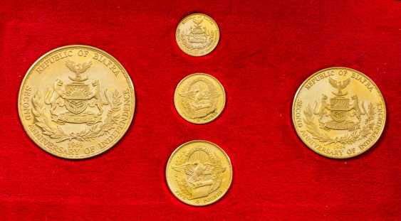 "1 x 5-teiliges GOLD-Set ""Republic of Biafra - Second Anniversary of Independence 1969"" - photo 1"
