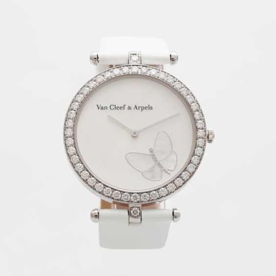 "VAN CLEEF & ARPELS women's watch ""Lady Arpels Papillon"" in white gold 18K - photo 2"