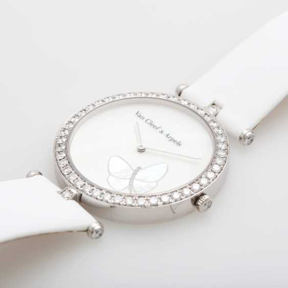 "VAN CLEEF & ARPELS women's watch ""Lady Arpels Papillon"" in white gold 18K - photo 3"