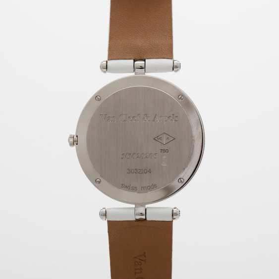 "VAN CLEEF & ARPELS women's watch ""Lady Arpels Papillon"" in white gold 18K - photo 5"