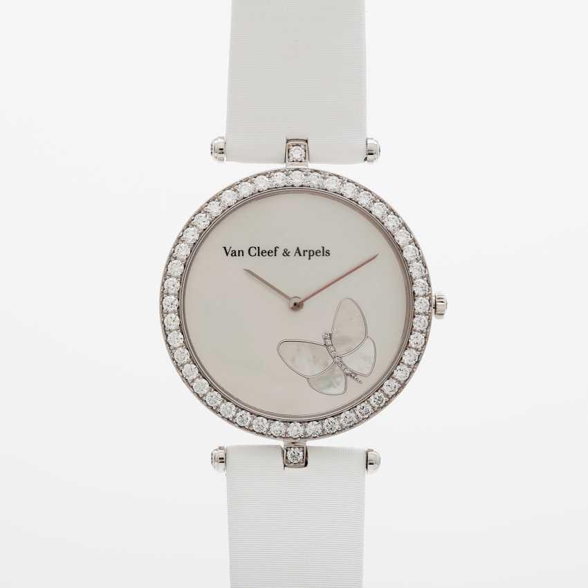 "VAN CLEEF & ARPELS women's watch ""Lady Arpels Papillon"" in white gold 18K - photo 1"