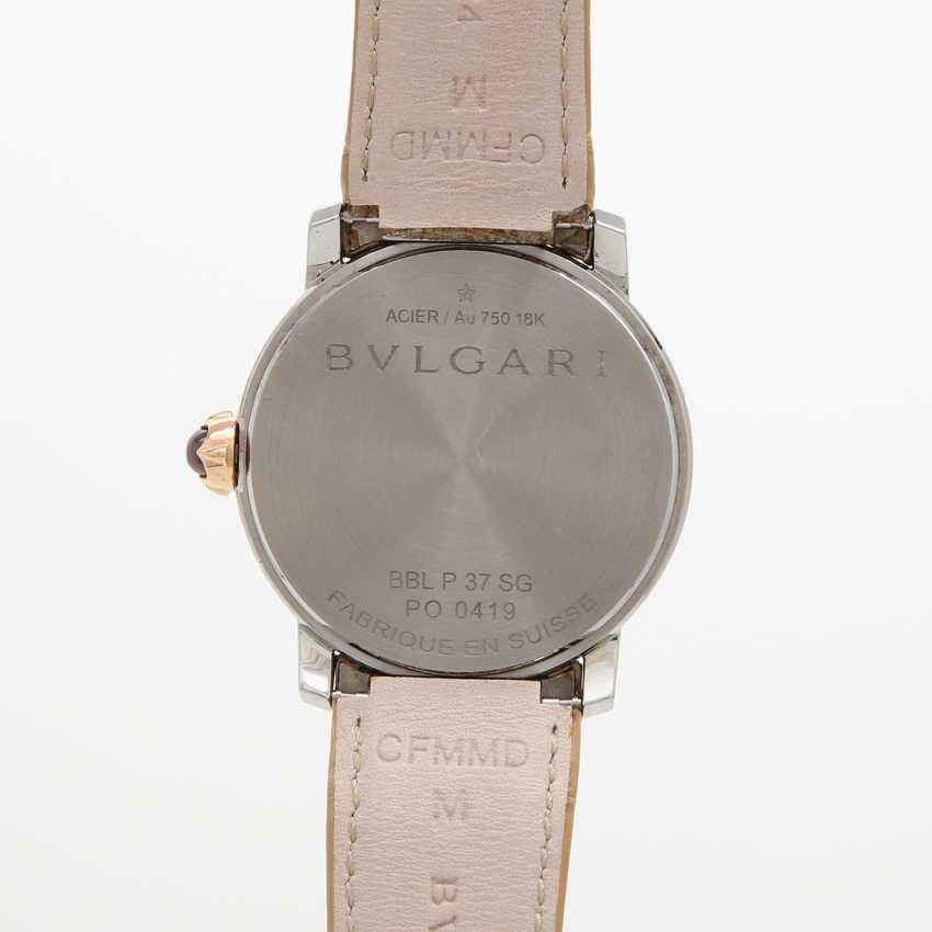 "Armbanduhr the Bulgarians is ""Bulgari-Bulgari"" s 18K Gold edelstahl mit rot in the lunette. - photo 5"