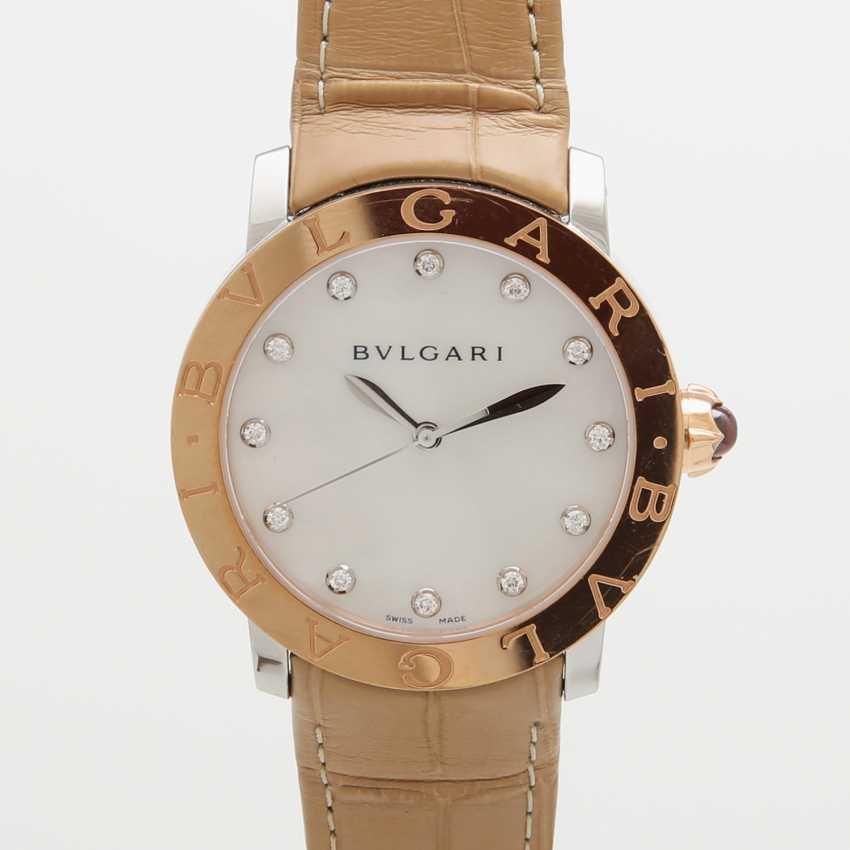 "Armbanduhr the Bulgarians is ""Bulgari-Bulgari"" s 18K Gold edelstahl mit rot in the lunette. - photo 1"