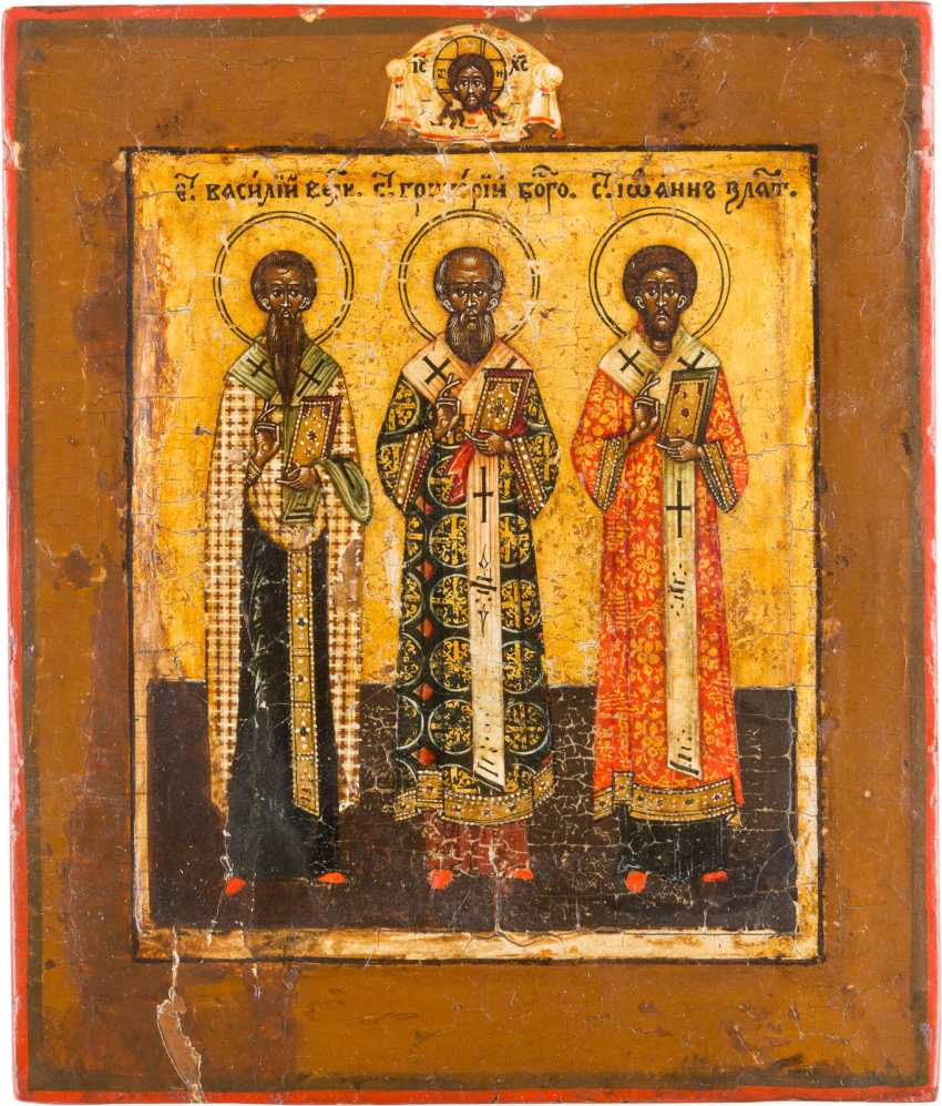 SMALL ICON OF THREE HOLY HIERARCHS - photo 1