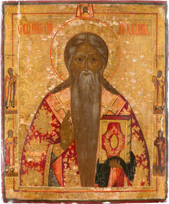 A BIG ICON WITH THE SAINT CHARALAMPOS - photo 1