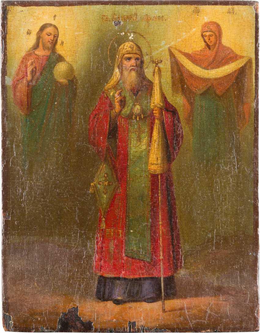ICON OF THE METROPOLITAN OF MOSCOW ALEXEY - photo 1