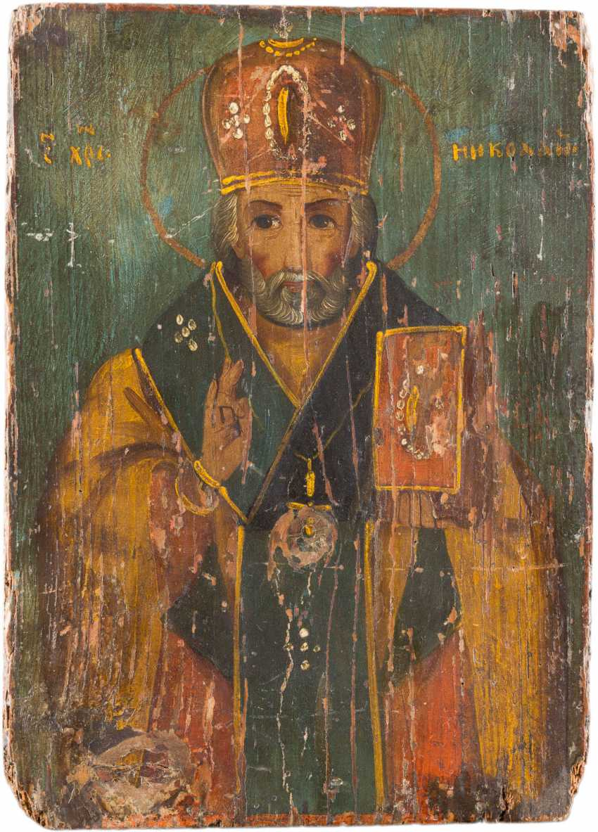 THREE ICONS: ST NICHOLAS OF MYRA, AND MITROFAN OF VORONEZH - photo 2