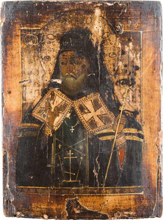 THREE ICONS: ST NICHOLAS OF MYRA, AND MITROFAN OF VORONEZH - photo 3