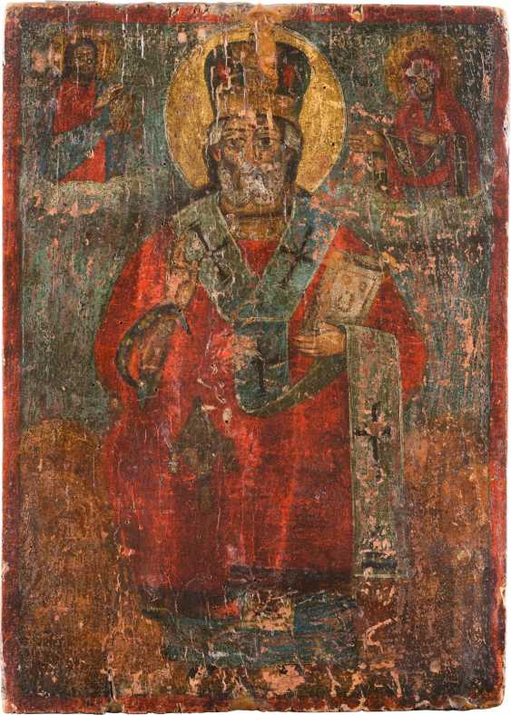 THREE ICONS: ST NICHOLAS OF MYRA, AND MITROFAN OF VORONEZH - photo 4