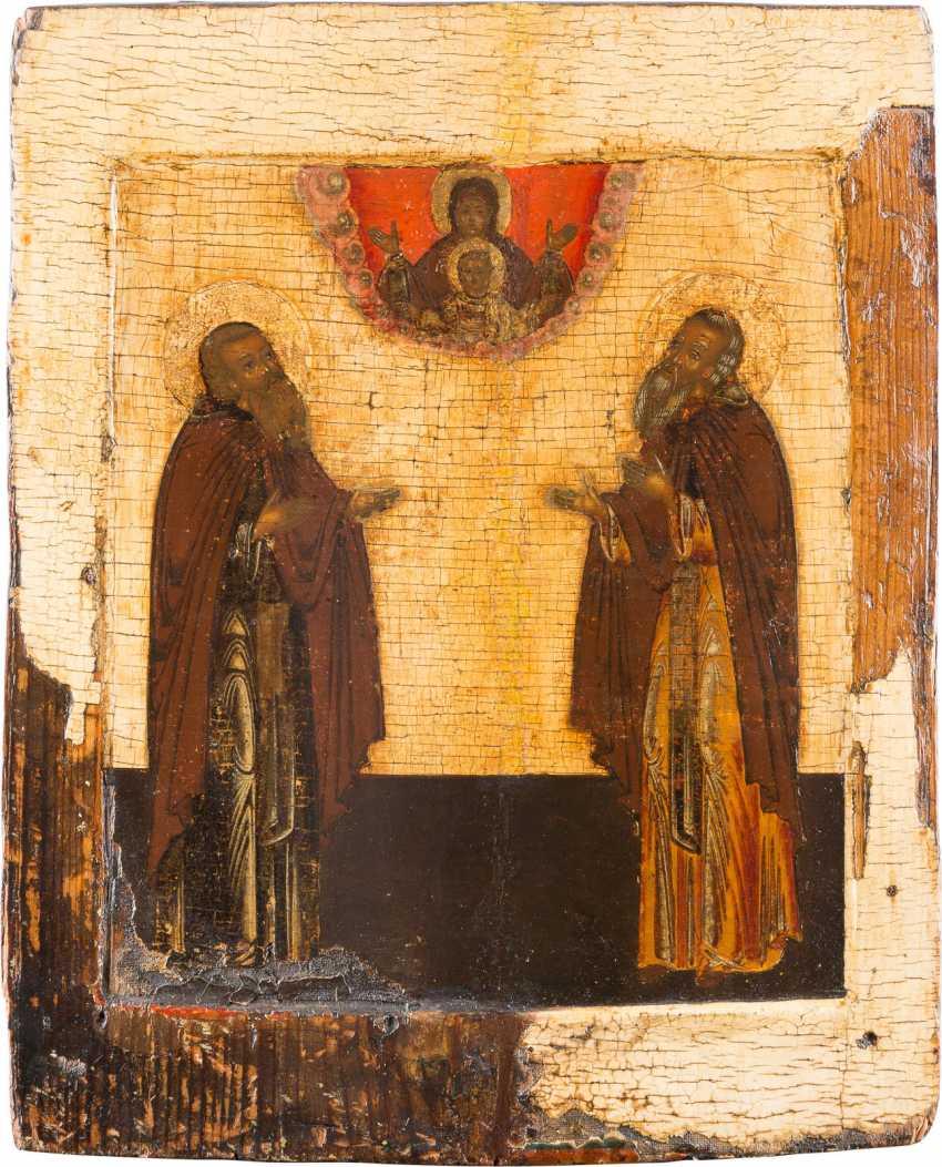 ICON WITH SAINTS ZOSIMA AND SABBATIUS - photo 1